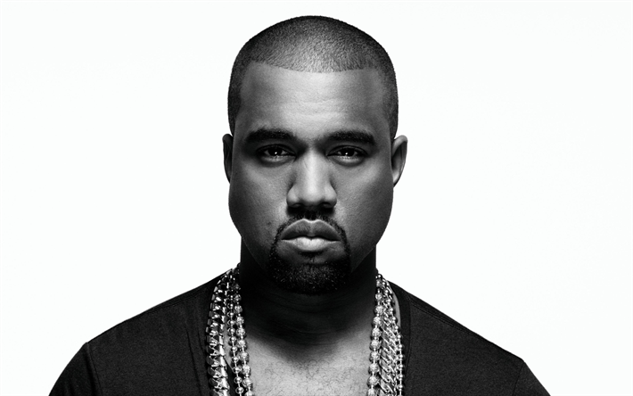 Download wallpapers Kanye West, 4k, american rapper