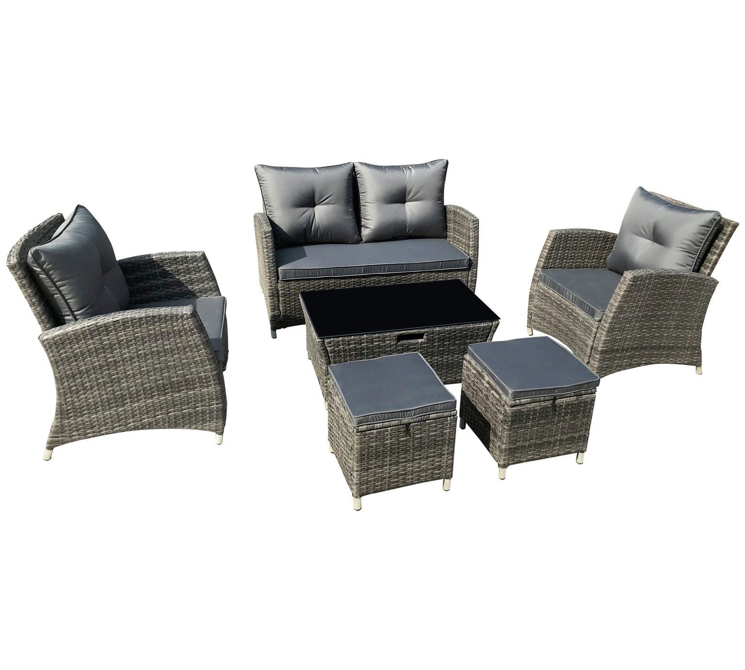 Buy Collection Rattan 7 Piece Set With Storage At Argos Co Uk Your Online Shop For Garden Table And Chair Sets G Sofa Set Garden Table And Chairs Argos Home