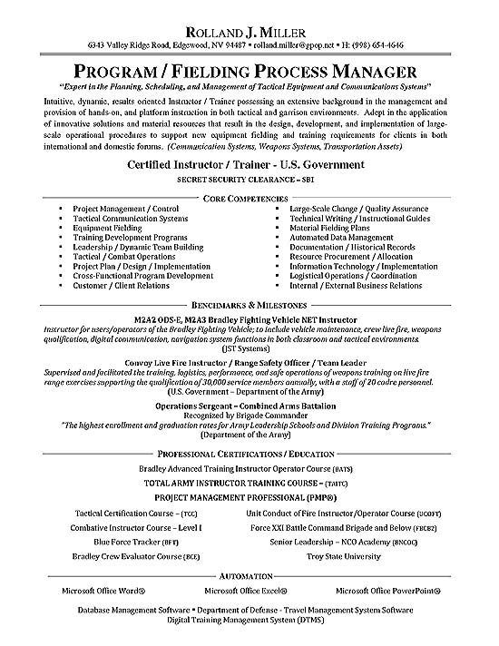 Process Manager Resume Example Resume Examples Pinterest