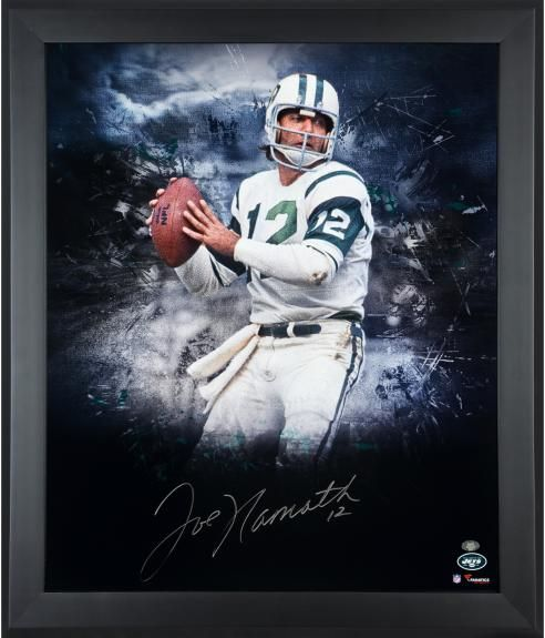 6cf82e72 Joe Namath New York Jets Framed Autographed 20