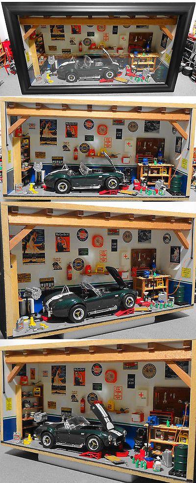 Dioramas 166800 New 1 18 Wall And Shelf Diorama Garage W Shelby