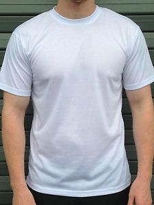 185a6e7738ffb4 100% Polyester Plain Blank White T shirts, Dye Sublimation T shirts / Vests