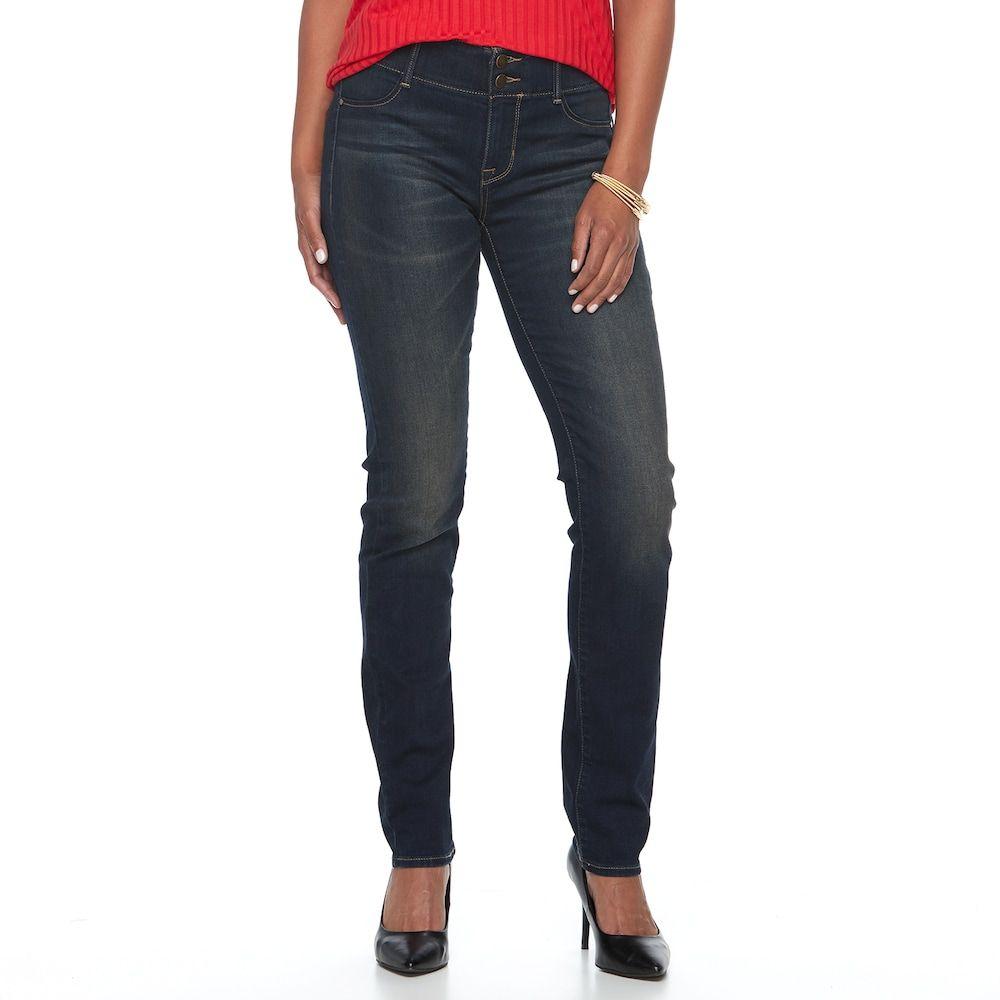 46da67b775 Petite Apt. 9® Modern Fit Comfort Waistband Straight-Leg Jeans, Women's,  Size: 8P - Short, Black