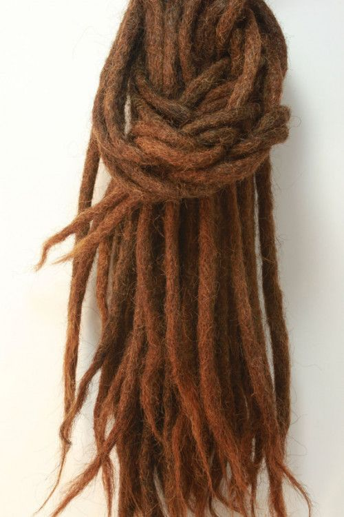 Pack Of 10 Human Hair Dreadlock Extensions 18 Inches Long 8 Mm Thick
