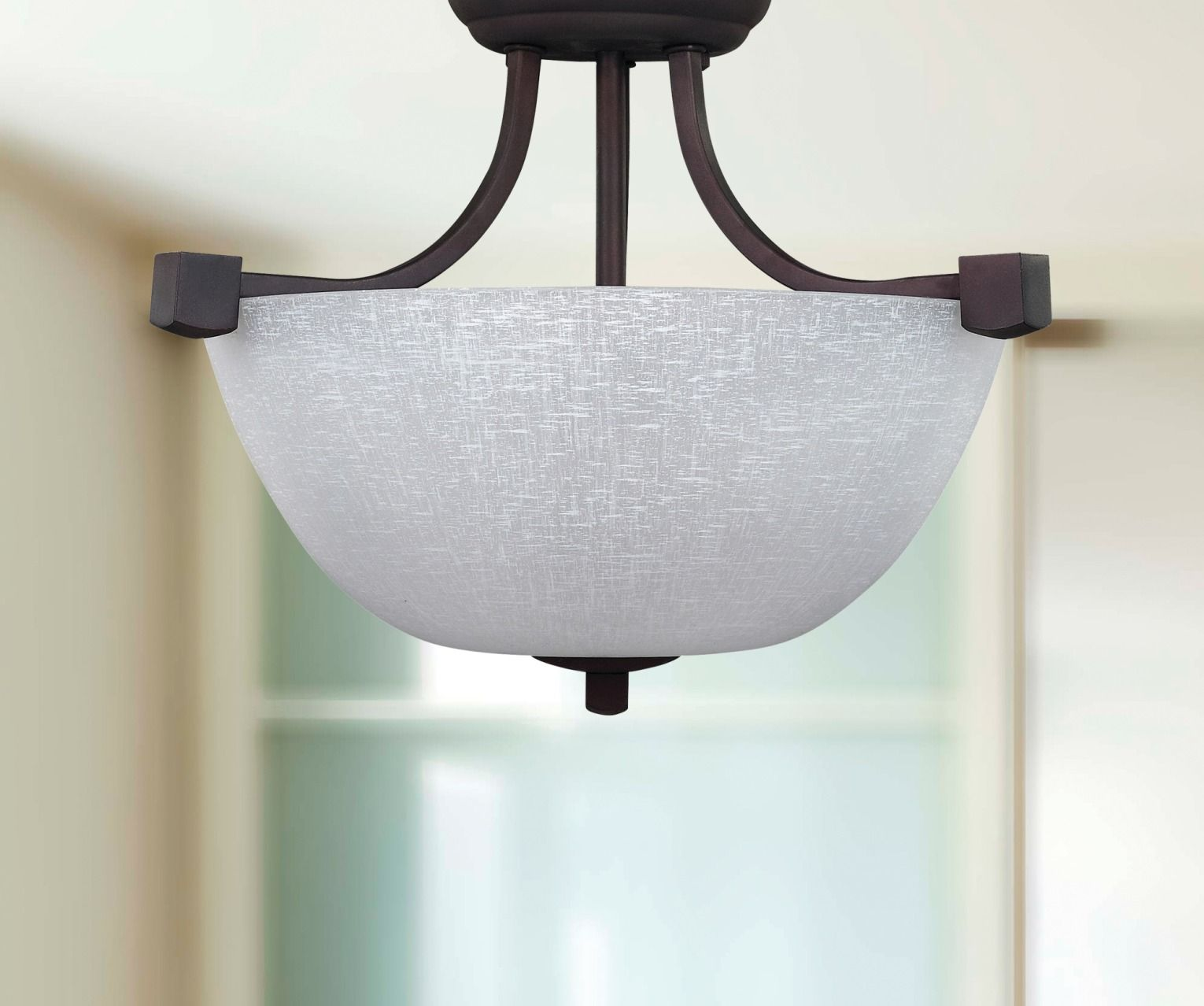 Sleek and simple, the Grenadier 3-Light Semi-Flushmount Ceiling Light adds a bold look to any room in your home. This ceiling light elegantly combines angular lines with classic shapes.