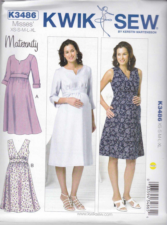Kwik Sew Sewing Pattern 3486 Maternity Misses Size 6-22 Raised Waist ...