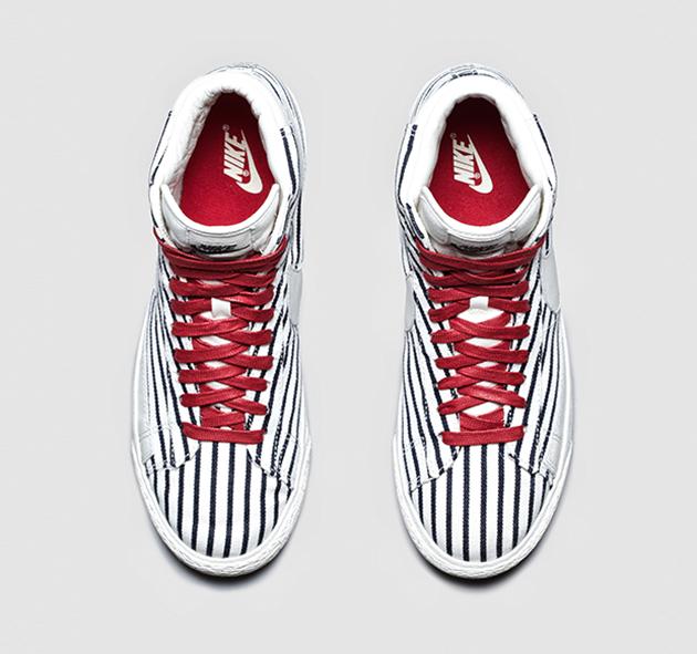 buy popular 06170 9c946 Nike Blazer Mid Vintage QS-Pinstripes-4 Chaussures De Course Nike Pas Chères ,