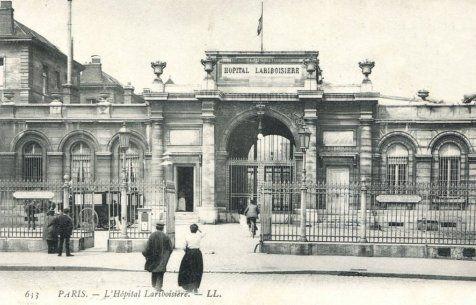 Hôpital Lariboisière. 10 ème arr. Vers 1900.
