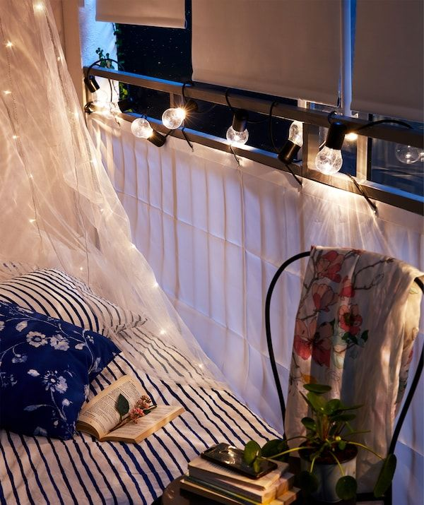 How to let your balcony a bedroom Roller blinds