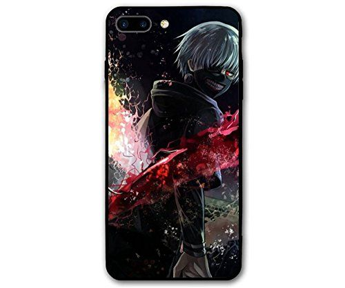 RNGEDG Coque pour Apple iPhone 7 / iPhone 8 / iPhone 7 Plus / iPhone 8 Plus / iPhone X, Tokyo Ghoul Manga Anime Comic New TPU Cover (9, iPhone 7/iPhone 8)