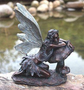 Delphina Bronze Color Fairy Statue