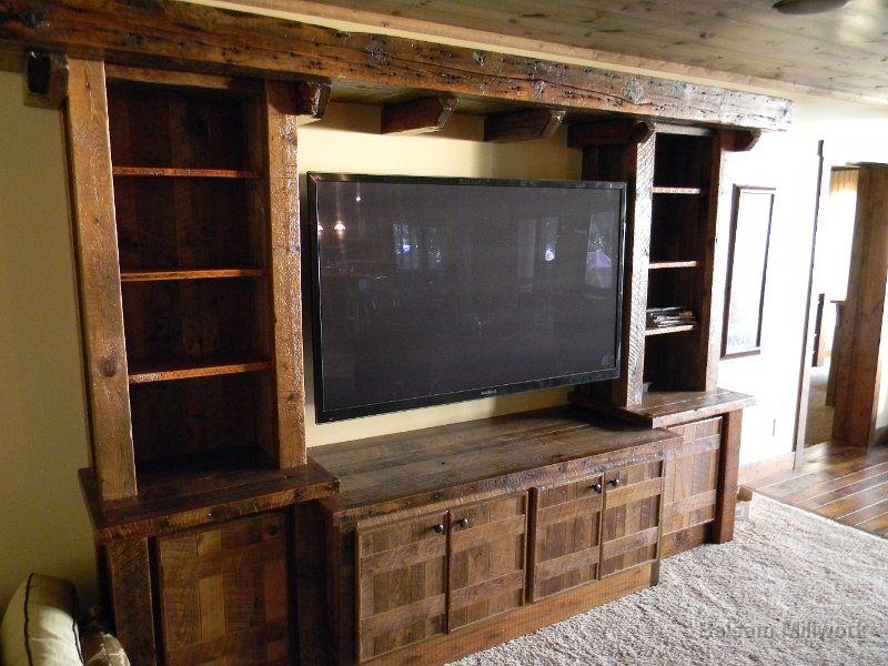 barn wood entertainment center - Google Search - Rustic+entertainment+center+ideas Custom Made Reclaimed Lumber
