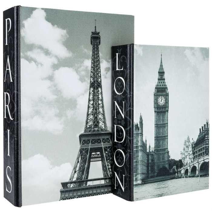 Black & White London & Paris Lined Book Box Set