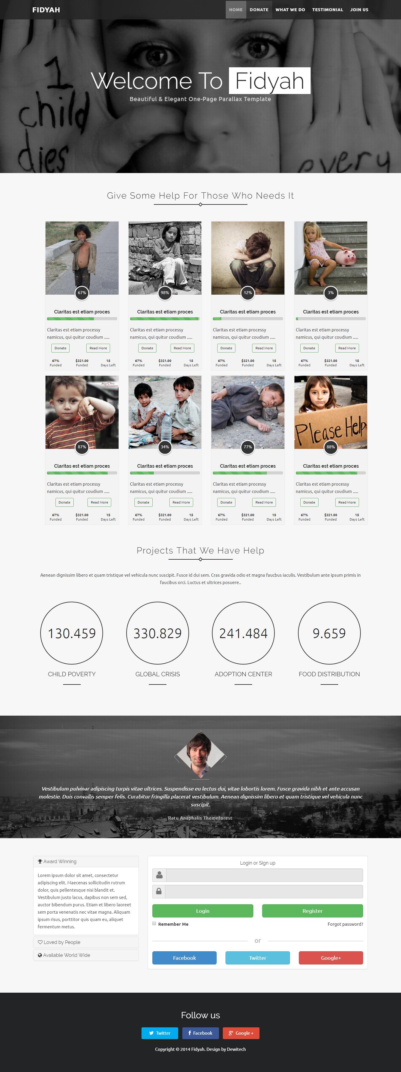 Fidyah Charity Donation Theme(이미지 포함) 디자인