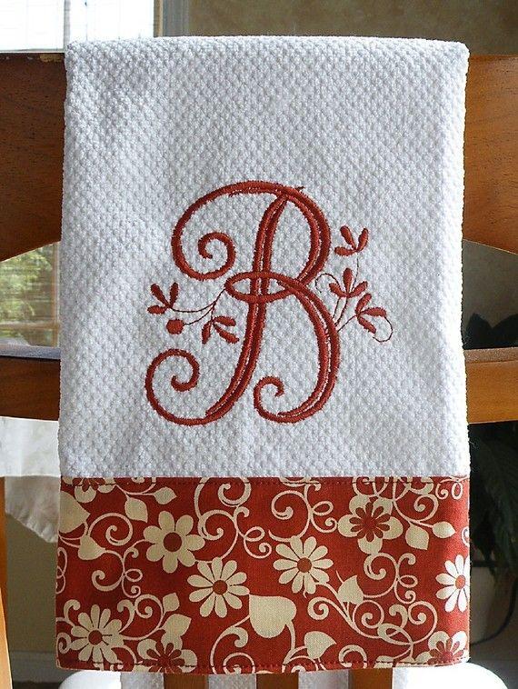 Monogrammed Kitchen Towel Monogrammed Towel Kitchen Towel