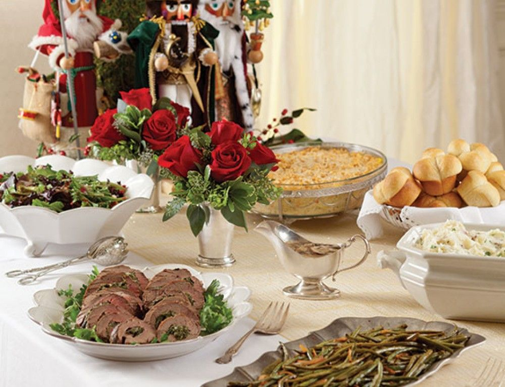 Christmas Floral Centerpieces Christmas dinner menu