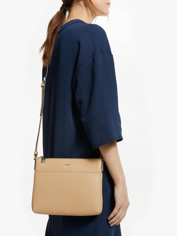 8f42e941da BuyDKNY Bellah Leather Cross Body Bag, Camel Online at johnlewis.com