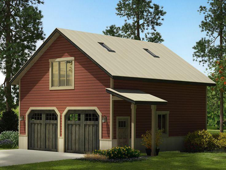 Garage Plan with Loft, 051G0083 Garage plans with loft