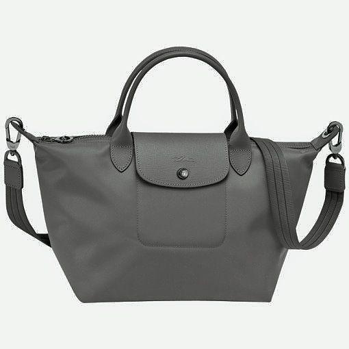 e1eca1325717 Longchamp Le Pliage Neo Small Handbag in Gray