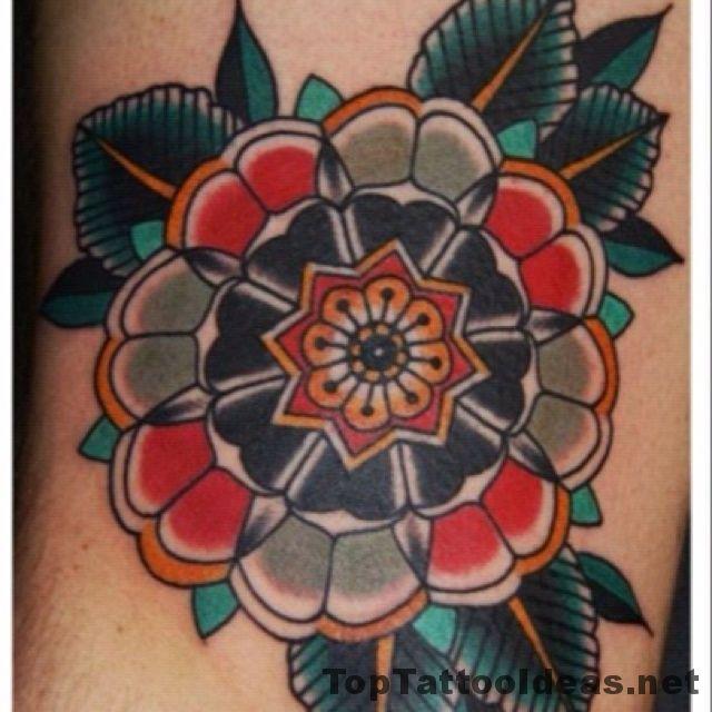 Beautiful Tudor Rose Tattoo
