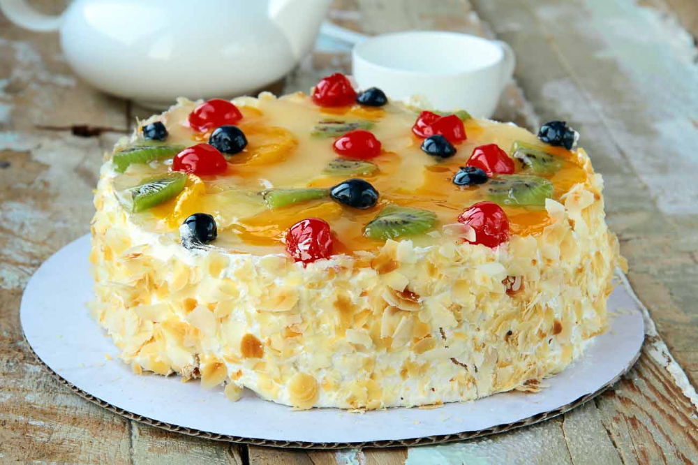 Swell French Gateaux Recipe Layered Fruit And Cream Cake Recipe Funny Birthday Cards Online Eattedamsfinfo