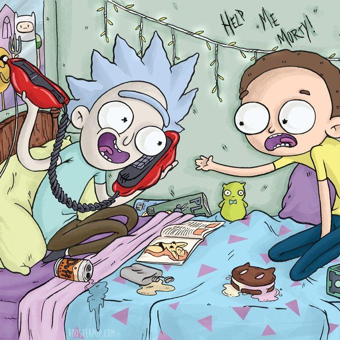 Rick a Morty karikatúra porno