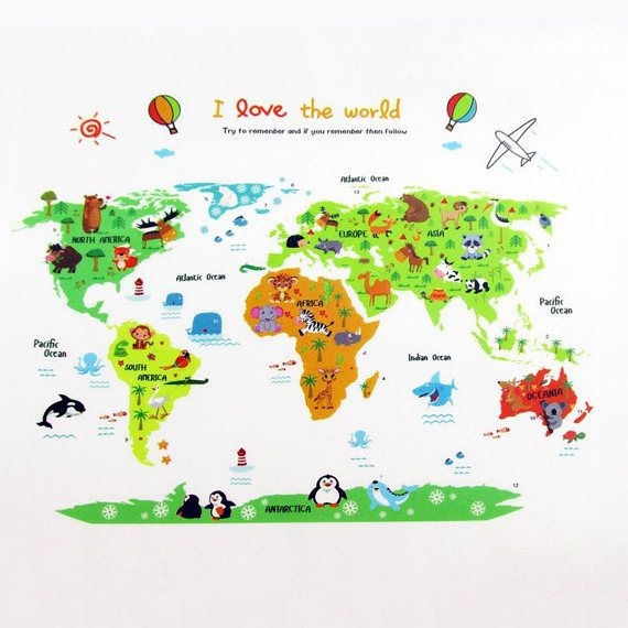 World map decal world map sticker world map mural wall decal world map decal world map sticker world map mural wall decal home gumiabroncs Image collections