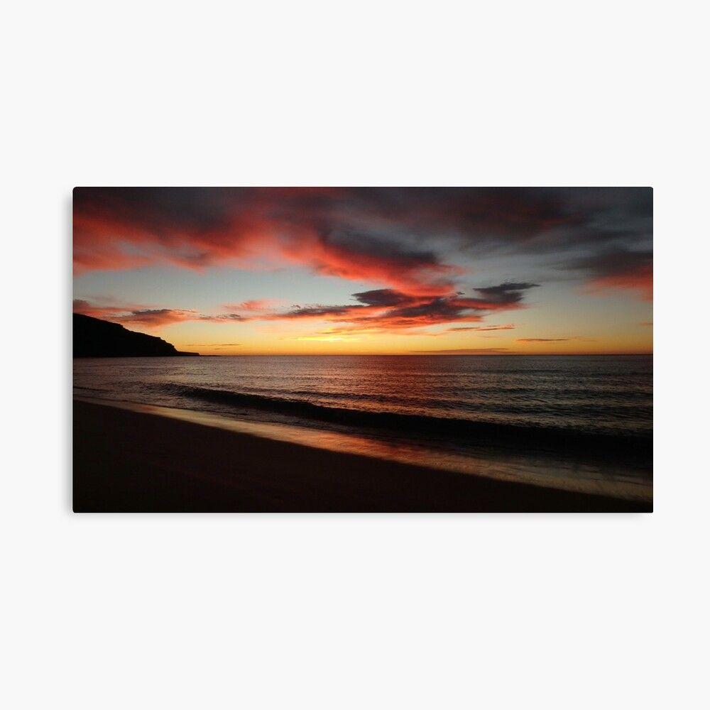 Great christmas gifts for boyfriend Palm Beach sunrise print artwork #christmasgift #decor #palmbeach #sydney #greatgifts #artwork #canvas