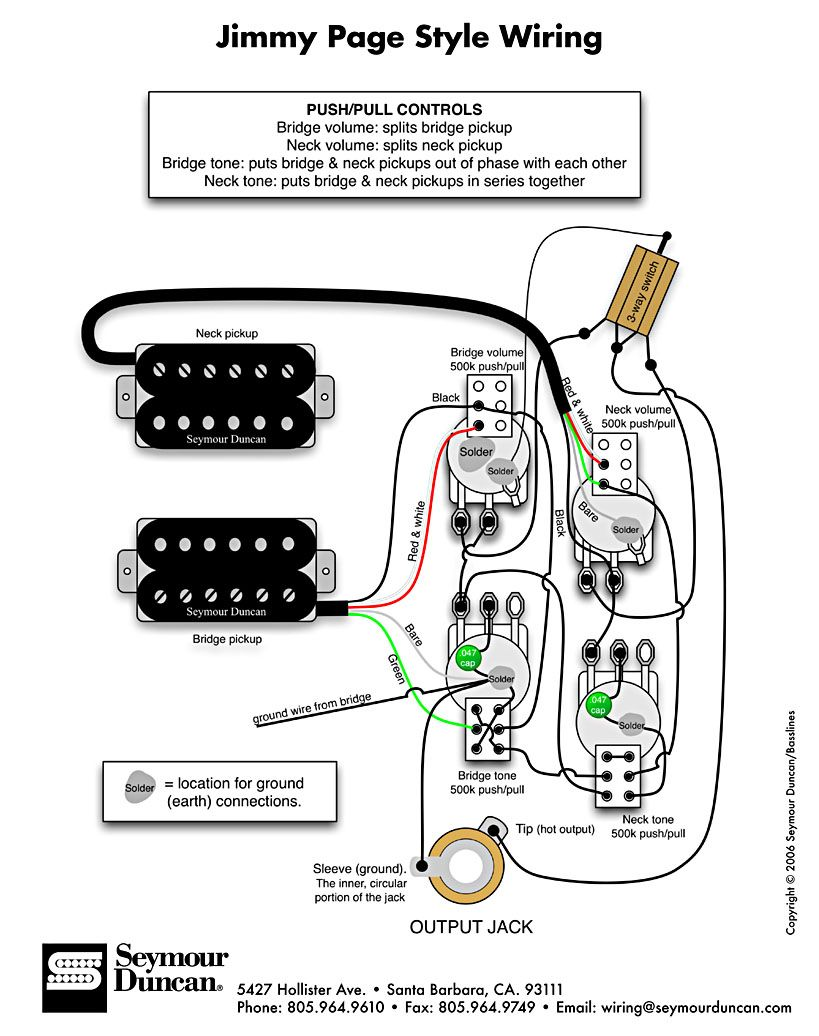 bass wiring diagram push pull jimmy paige style wiring diagram guitar diy wiring the world s largest selection of guitar wiring