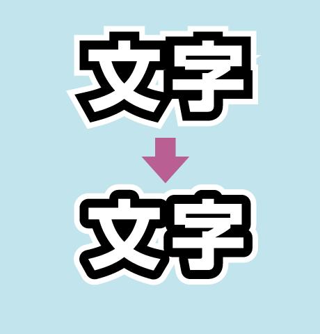 イラストレーターで文字に二重のフチをつけたり外側のフチをぼかす加工 カンタンにできる文字の縁取り テキストデザイン イラストレーター 文字 装飾
