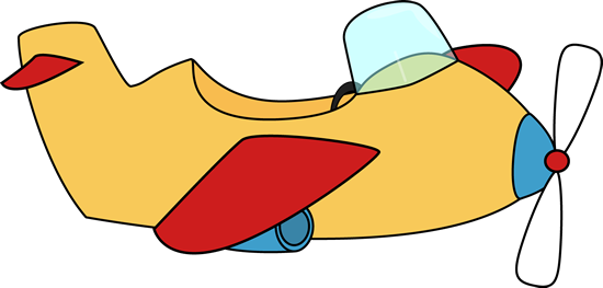 Airplane printable. No background clipart panda