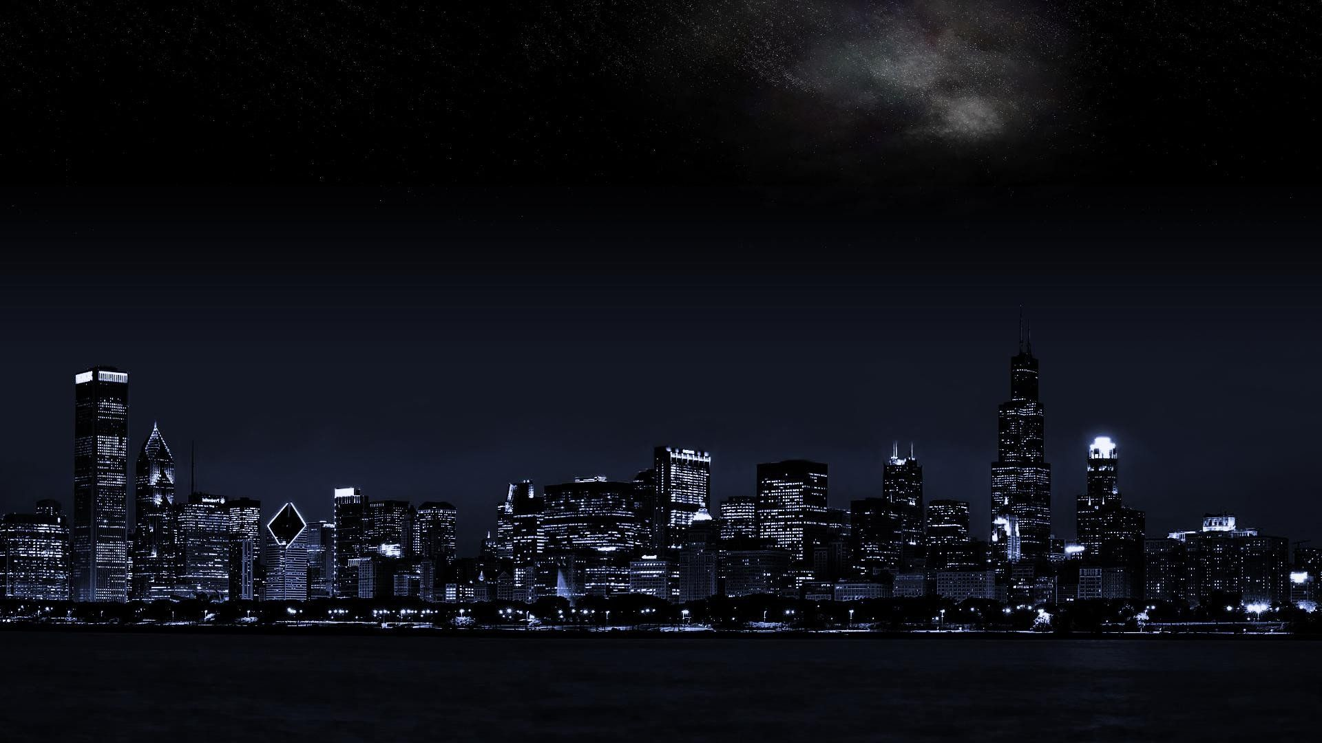 Night City Wallpaper Free Dark Landscape Dual Monitor Wallpaper Landscape Wallpaper