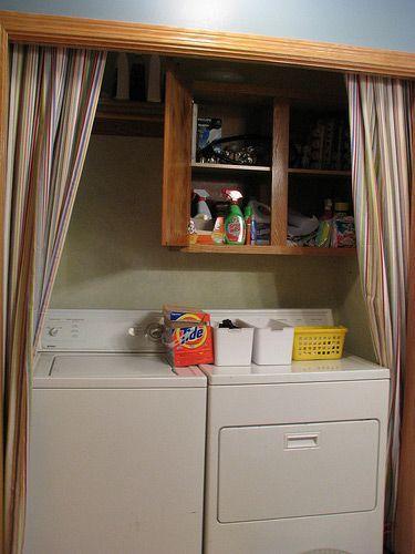 laundry room curtains laundry closet