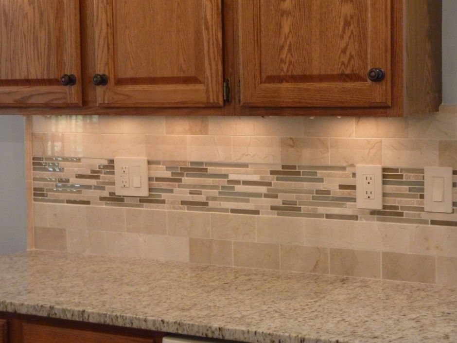 Square Tiles With Light Effect Kitchen Backsplash With Images