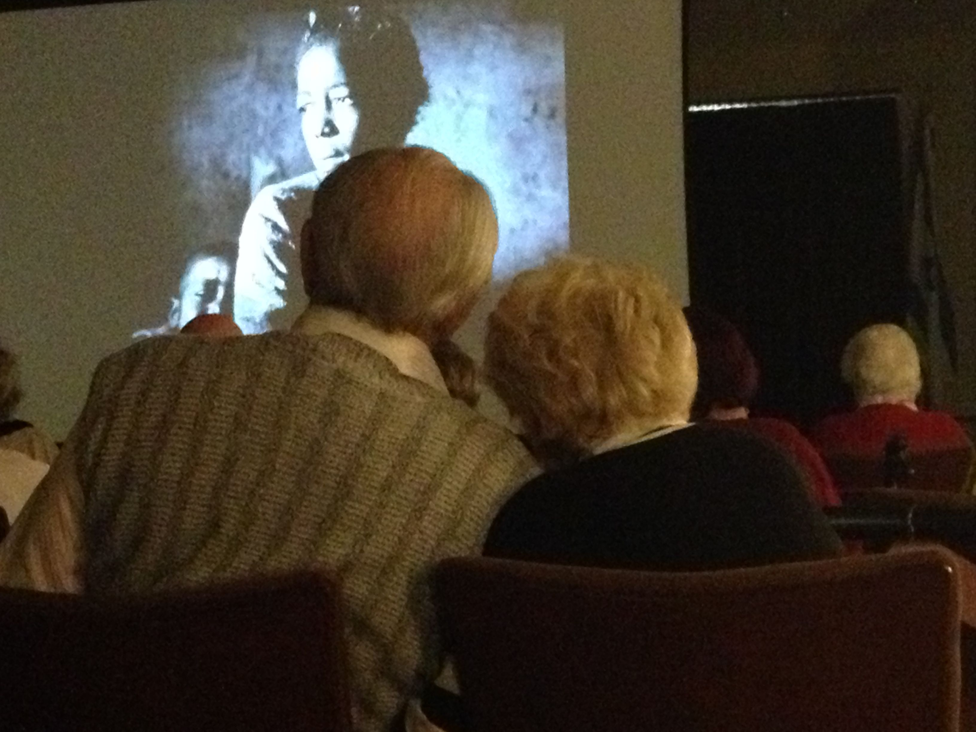A lovely couple enjoys one of our North County film screenings. 5/9/2013