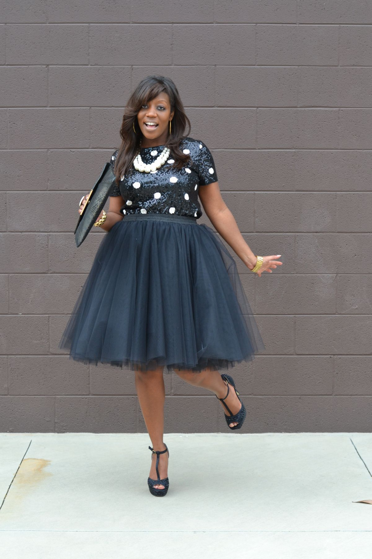 a4acff402 Kenya L Fashion Blog: Tulle Skirt - Holiday Party Style | Kenya L ...