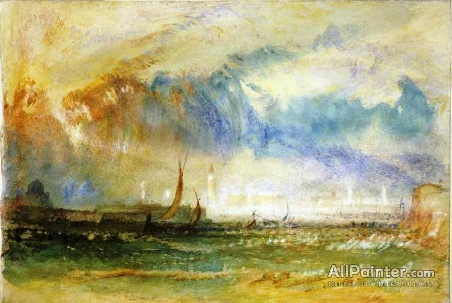 Joseph Mallord William Turner,Venice, Storm At Sunset oil painting ...