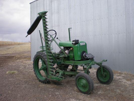 Vintage Sickle Bar Mower With Garden Tractor Tractors Vintage Tractors