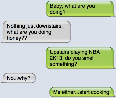 Demanding husband