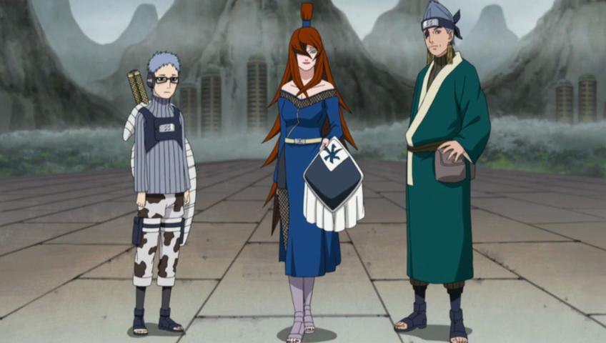 5th mizukage mei terumī with chōjūrō and ao reanimated character