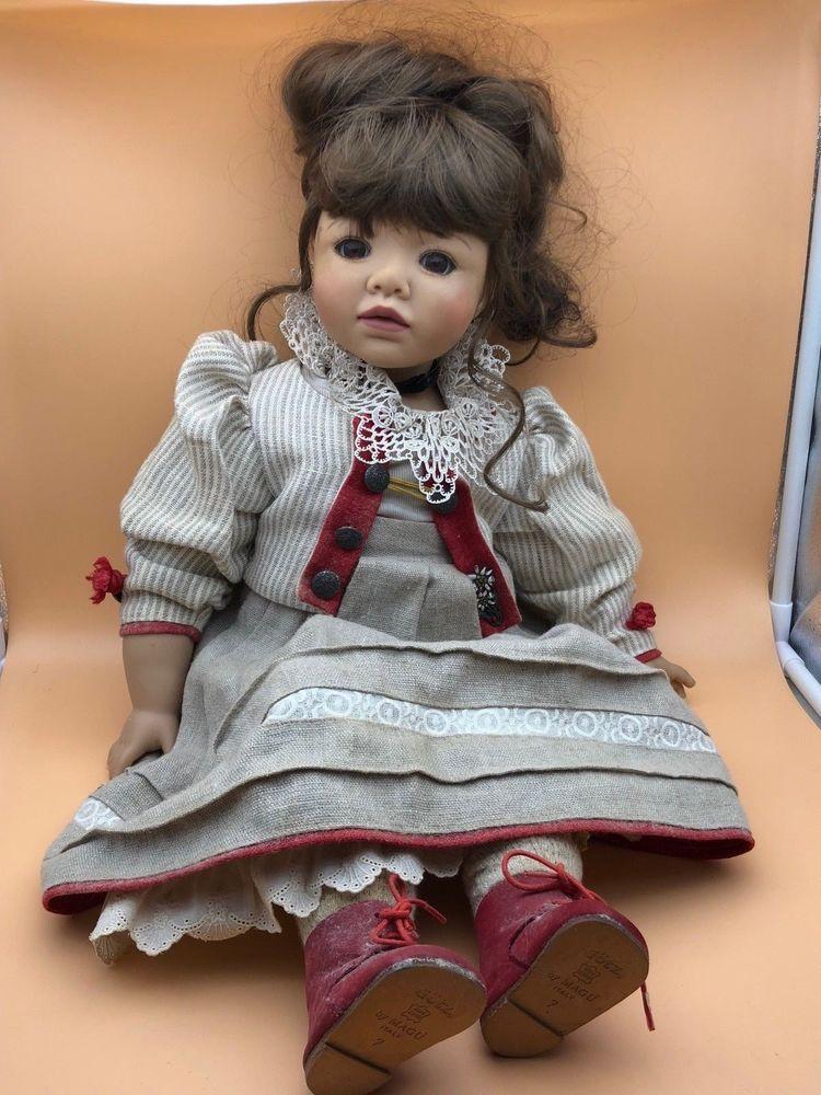 Götz Hildegard Günzel Puppe Vinyl Puppe 55 Cm Top Zustand Dolls & Bears