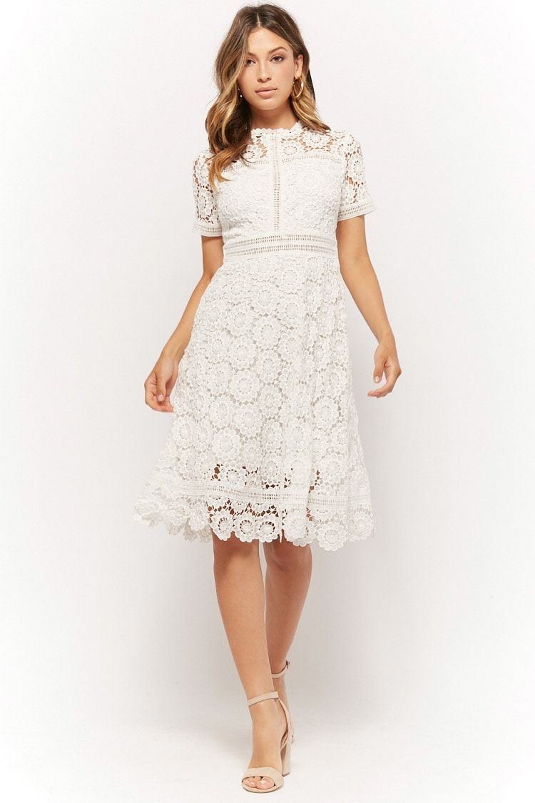 Product Name Crochet Floral Midi Dress Category Dress Price 37 9 Midi Dress With Sleeves White Lace Midi Dress Lace Midi Dress [ 1125 x 750 Pixel ]