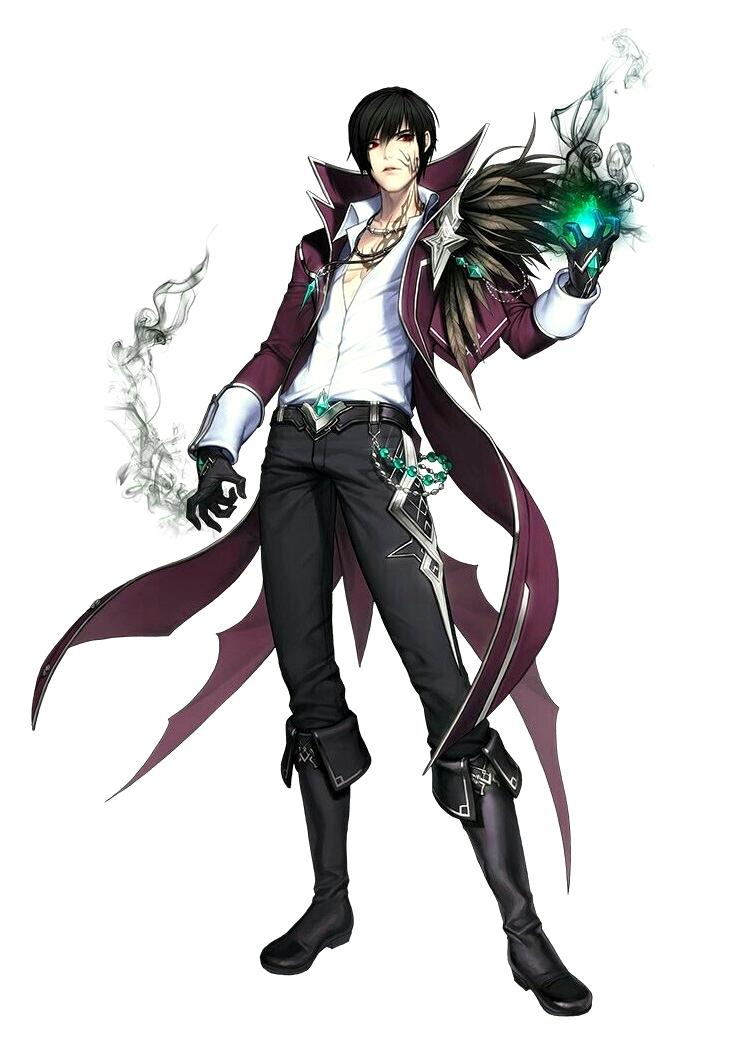 Male Human Necro Raven Wizard - Pathfinder PFRPG DND D&D 3 5