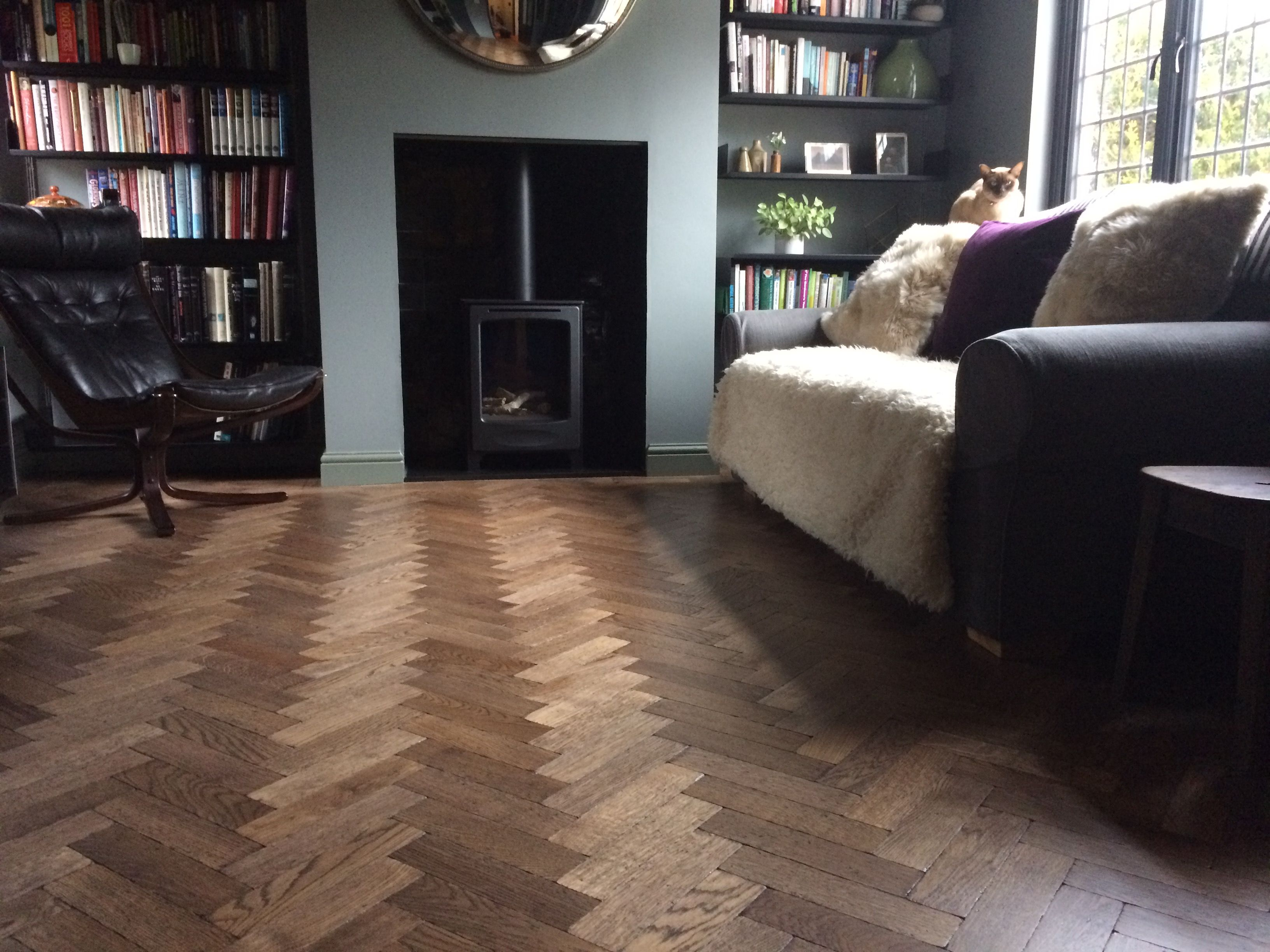 Our Aged Oak Ebony Parquet Wood Flooring Engineered