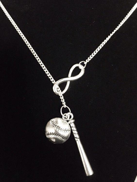 Photo of Baseball Bat Necklace, Softball Necklace, Allstar Gift, Baseball Mom, Softball Mom, Sports Necklace,