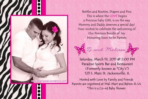 Zebra Print Baby Shower Invitations Baby Shower For Parents Free Baby Shower Invitations Baby Shower Invitations Printed Baby Shower