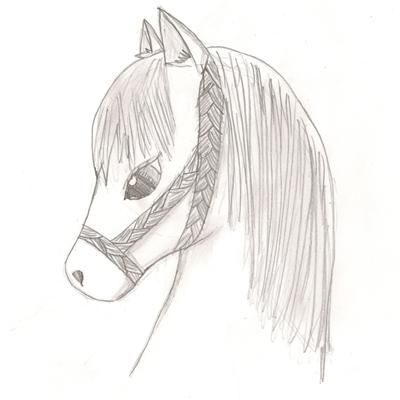 Pencil Drawing Of A Cute Anime Pony Animal Drawings Easy Animal
