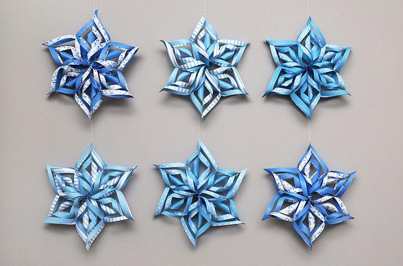 3d Snowflake Template Snezhinki Snezhinka Podelki