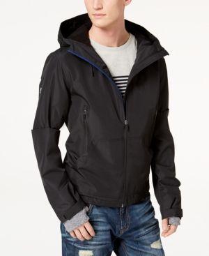 SUPERDRY MEN'S BLACK Elite Windcheater Hooded Zip Jacket