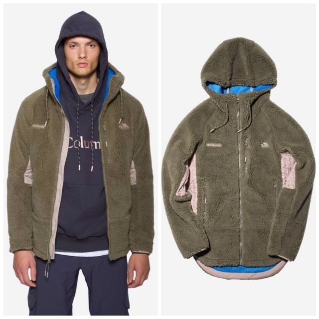 1d81befc7c9 KITH X Columbia Aspen Collection High Pile Zip Hoodie Stone Green XS Ronnie  Fieg